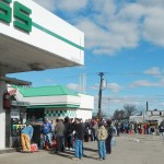Lack of Preparedness Hurricane Sandy Waiting for Gas