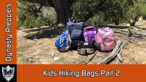 Dynasty Preppers Kids Hiking Bags Part 2