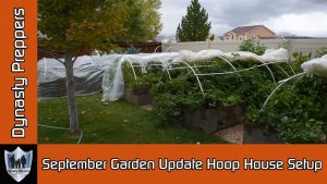 September Garden Hoop House Setup