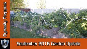 September 2016 Garden Update