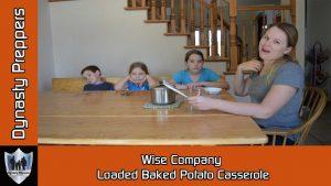 Wise Company Loaded Baked Potato Casserole