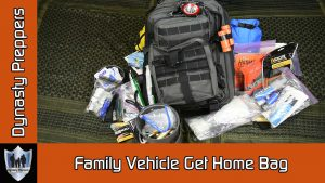 Family Vehicle Get Home Bag