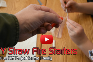 DIY Straw Fire Starters