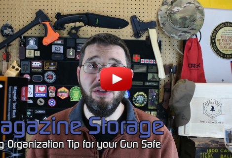 Quick Gun Safe Organization Tip for Magazines