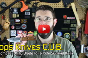 Tops CUB Survival Knife Option for Kids (Compact Utility Blade)