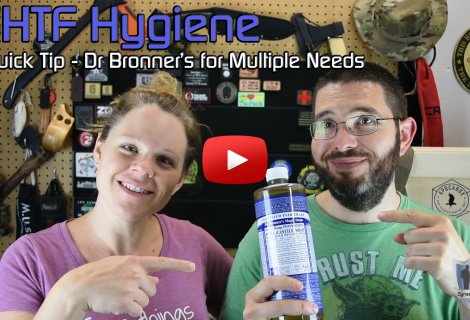 SHTF Hygiene Quick Tip – Storing Dr Bronner's Soap for Multiple Hygiene Needs