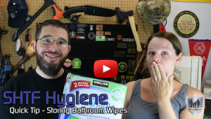 SHTF Hygiene Quick Tip - Storing Bathroom Wipes
