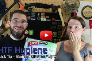 SHTF Hygiene Quick Tip – Storing Bathroom Wipes