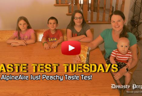 AlpineAire Just Peachy Freeze Dried Peaches Taste Test