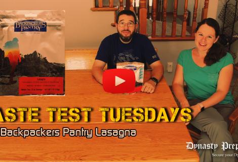 Backpackers Pantry Lasagna Taste Test