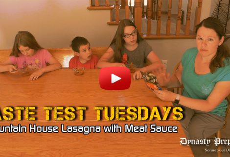 Mountain House Lasagna with Meat Sauce Taste Test