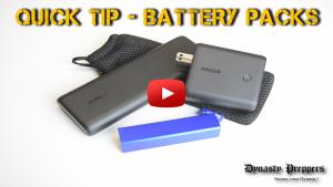 SHTF Quick Tip Battery Packs