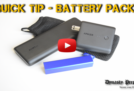 SHTF Quick Tip Battery Packs