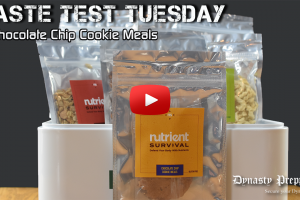 Nutrient Survival Chocolate Chip Cookie Meals Taste Test