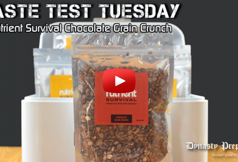Nutrient Survival Chocolate Grain Crunch Taste Test Test