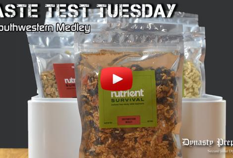 Nutrient Survival Southwestern Medley Taste Test
