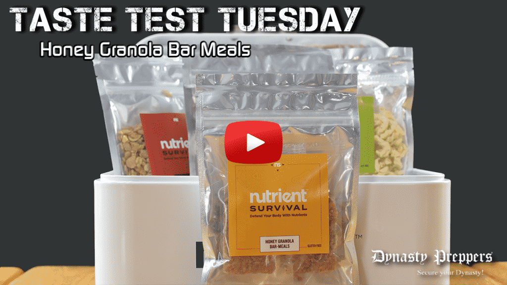 Nutrient Survival Honey Granola Bar Meals